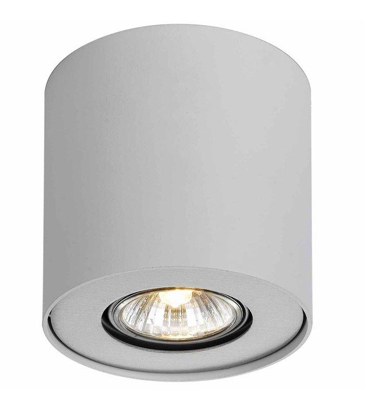 Lampa sufitowa typu downlight Tamzo biała pojedyncza walec wbudowane diody LED