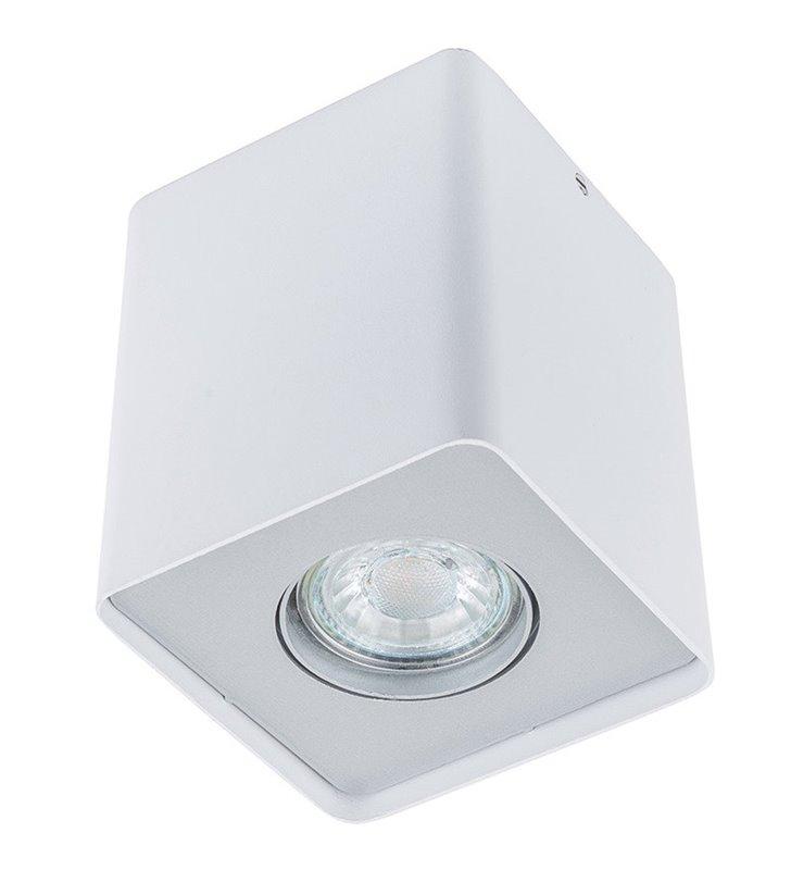 Kwadratowa oprawa natynkowa downlight Harris biała żarówka GU10