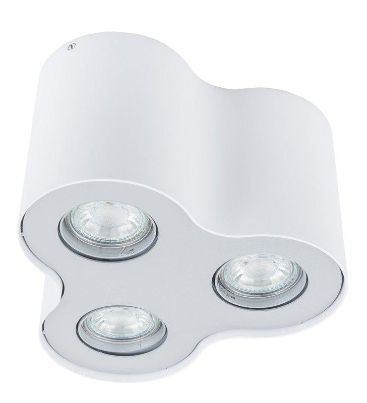 Lampa sufitowa downlight Shannon biała natynkowa 3 żarówki do nabudowania