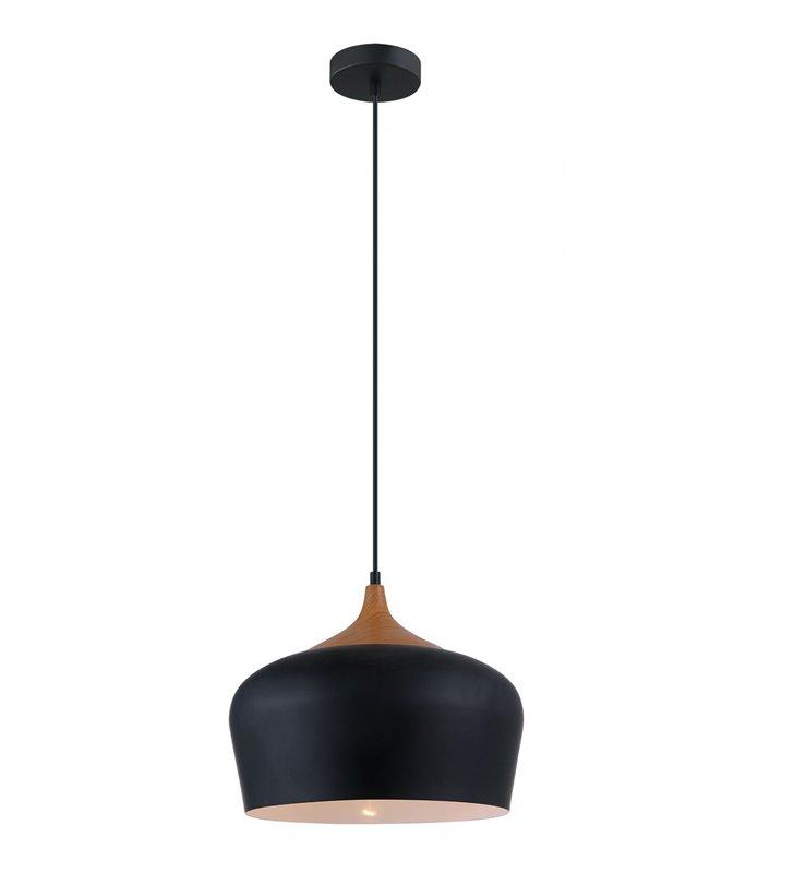 Lampa wisząca Britta metalowa czarna styl skandynawski nowoczesna