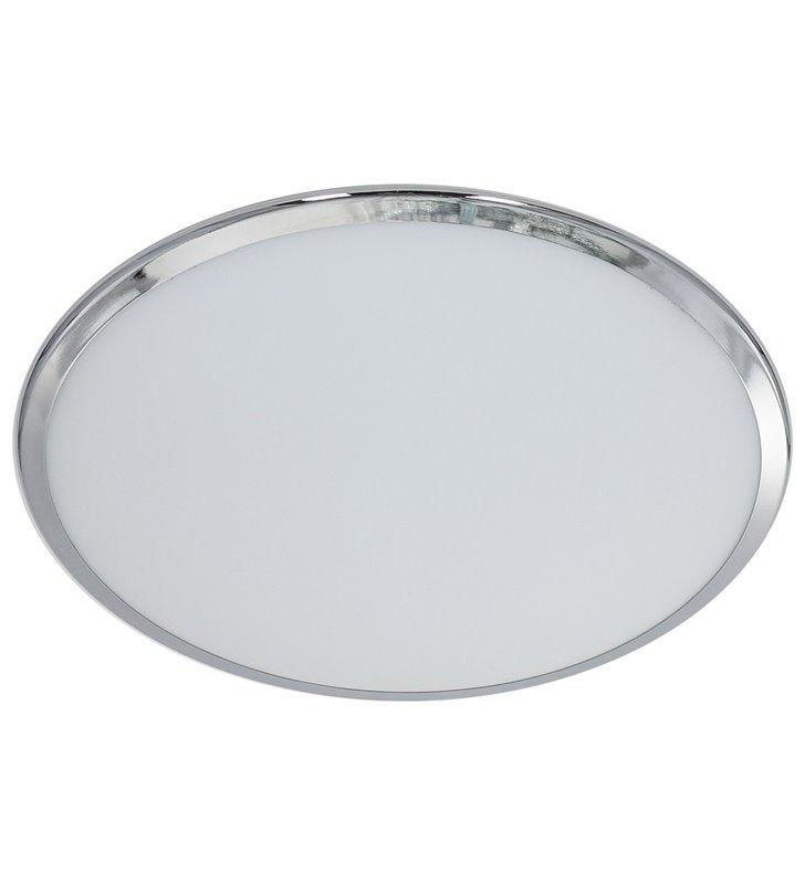 Plafon Stella 405 białe szkło z chromowanym brzegim