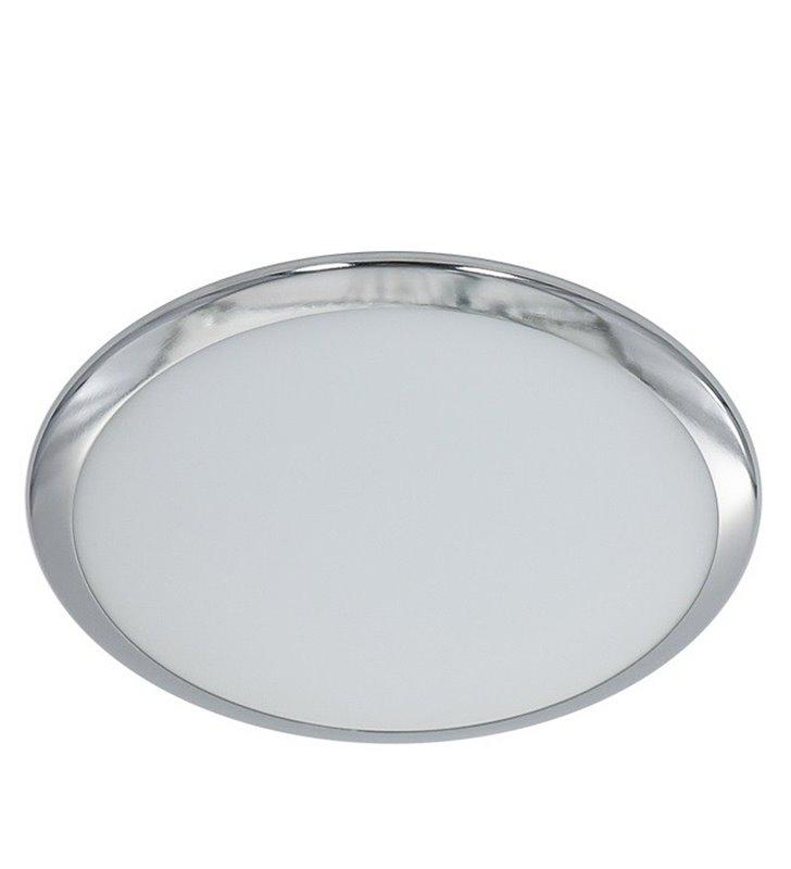 Niewielki prosty szklany plafon Stella 255 LED metal chrom