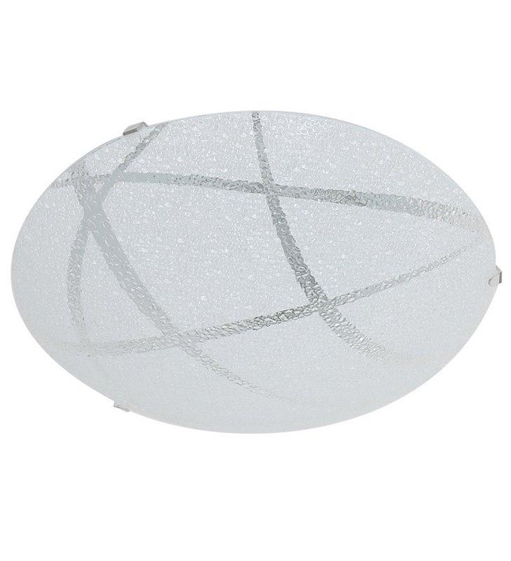 Niewielki okrągły plafon z dekoracyjnego szkła Kiara 250 LED