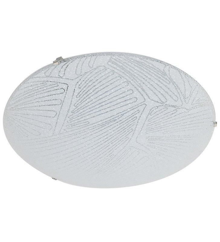 Plafon Diana 300 biały szklany klosz z ozdobnym wzorem