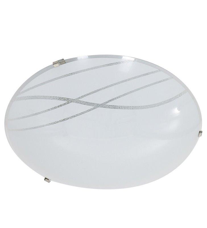 Plafon Bianka 300 LED ozdobny wzór na szklanym kloszu