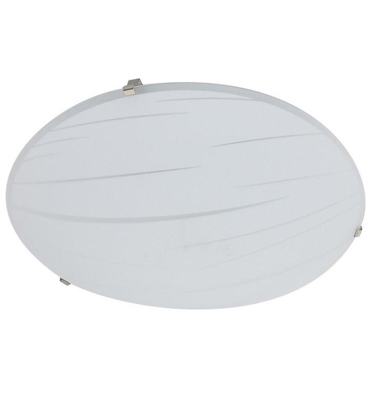 Biały szklany plafon Evita 300 LED