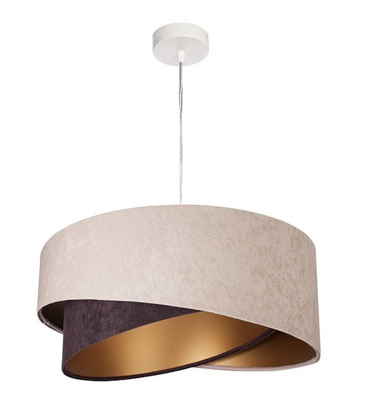 Asymetryczna beżowo brązowa lampa wisząca Arianna