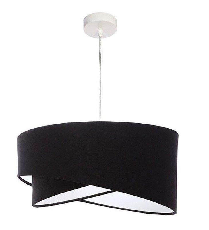 Lampa wisząca Viviana czarna welurowa z asymetrycznym oryginalnym abażurem