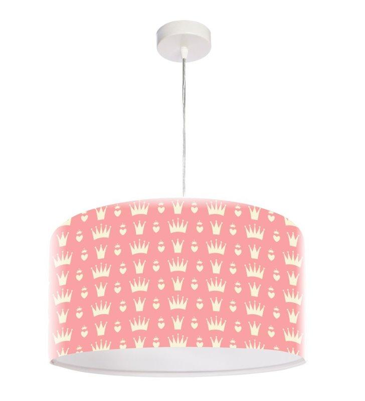 Różowa dziecięca lampa wisząca do pokoju małej dziewczynki Pinky Queen