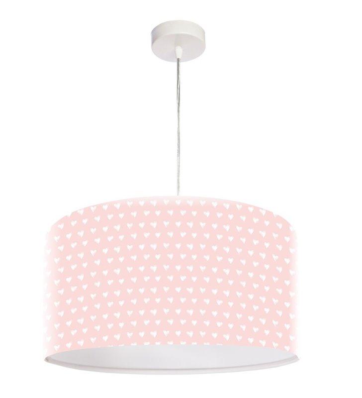 Dziewczęca różowa lampa wisząca Sarah