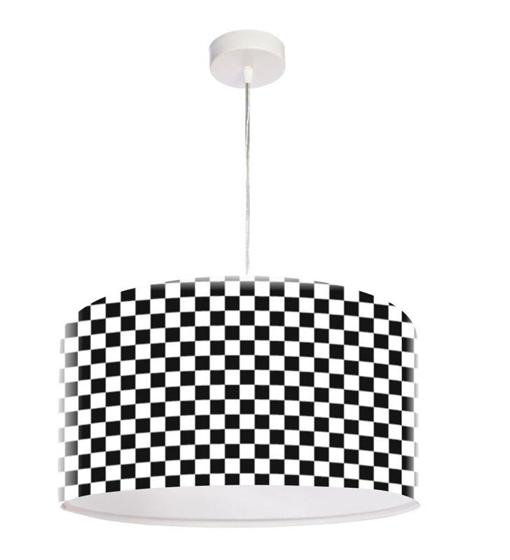 Lampa wisząca Chessboard biało czarna szachownica