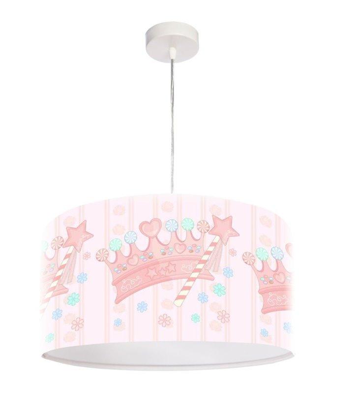 Lampa wisząca Queen pastelowa dla dziewczynki