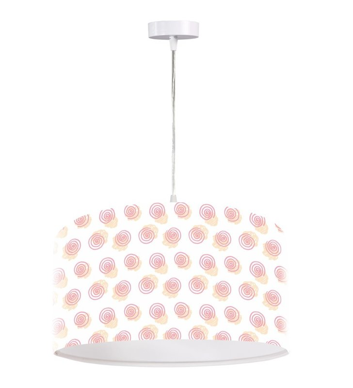 Lampa wisząca Slugs biało różowa dziewczęca