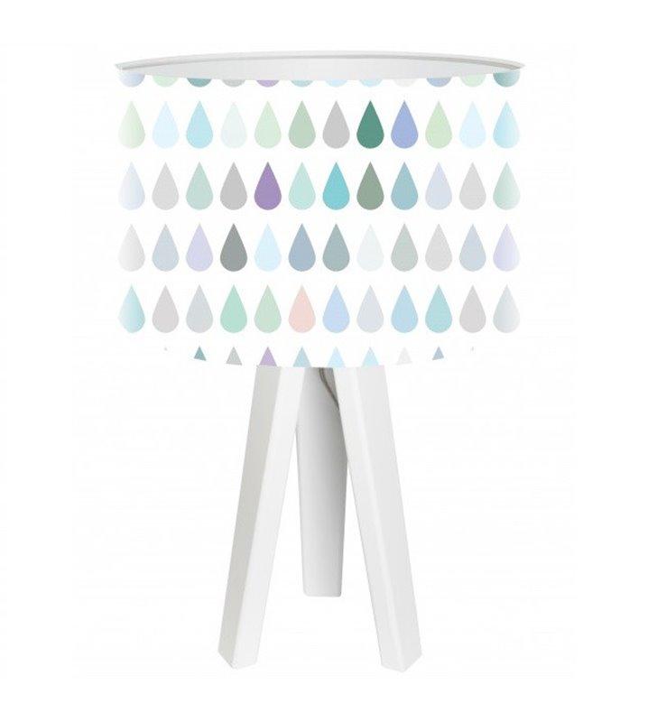 Lampa stołowa do pokoju dziecka Pastelowe Kropelki