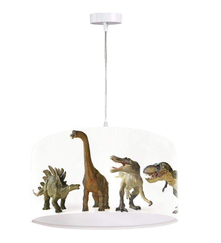 Dziecięca lampa wisząca Dinozaury do pokoju chłopca dziecka z dinozaurami - OD RĘKI