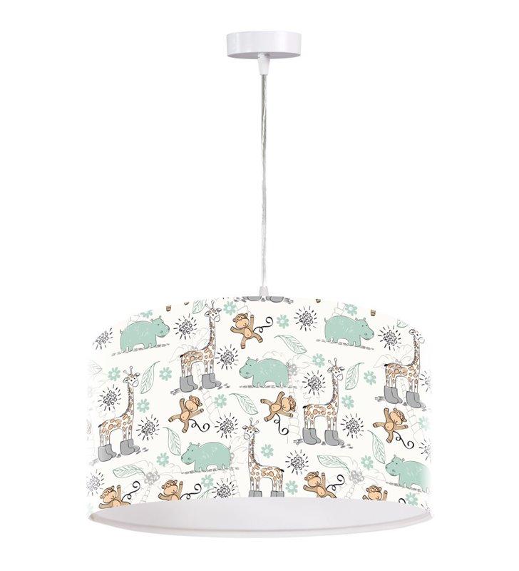 Dziecięca jasna lampa z nadrukiem Zoo1 zabawne zwierzątka 50cm