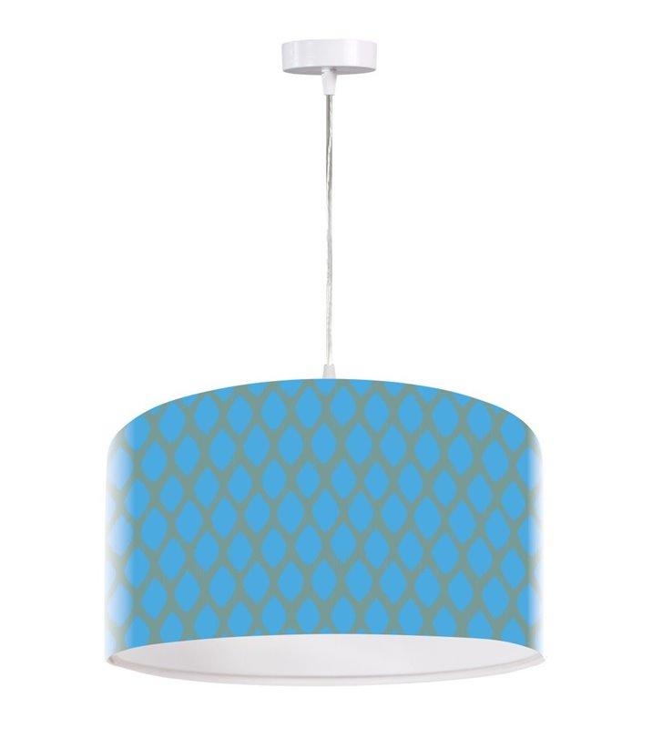 Niebieska lampa wisząca Oceane