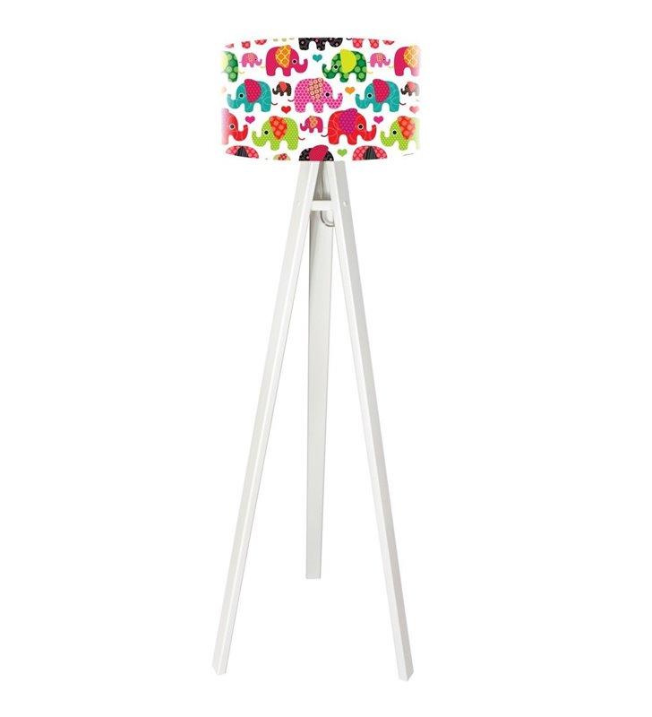 Kolorowa dziecięca lampa podłogowa Szczęśliwy Słonik