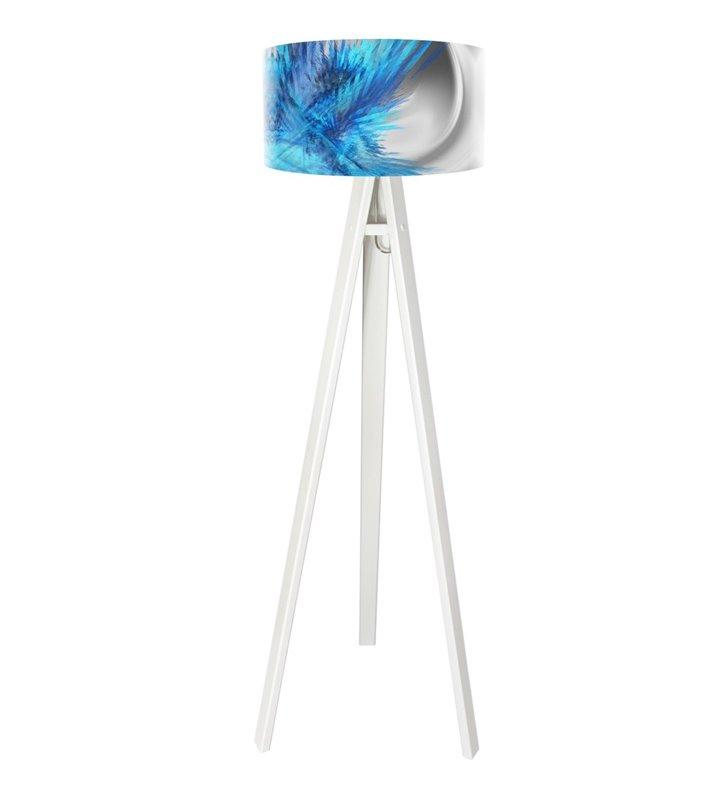Magia Chabru lampa stojąca trójnóg abażur z barwnym nadrukiem