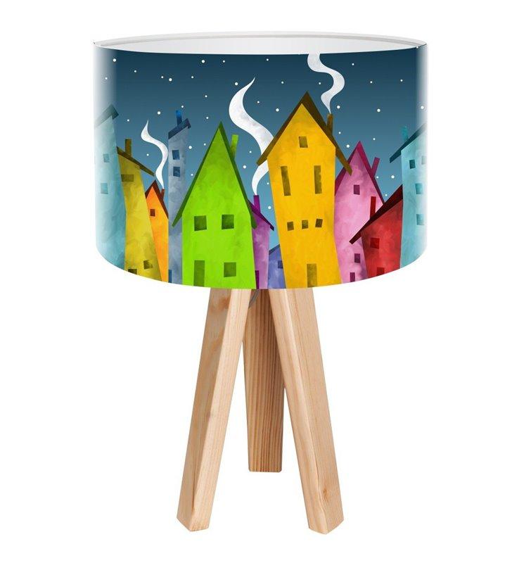 Kolorowa lampa nocna do pokoju dziecka Bajkowe Miasteczko