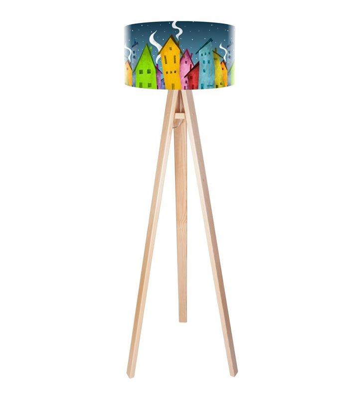 Lampa podłogowa Bajkowe Miasteczko kolorowa do pokoju dziecka