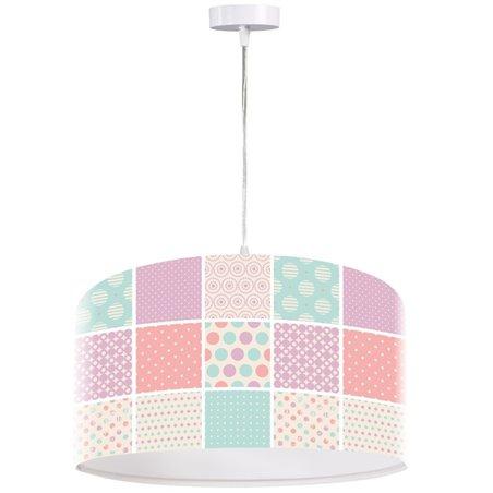 Patchworkowa pastelowa kolorowa lampa wisząca Landrynkowy Raj średnica 50cm