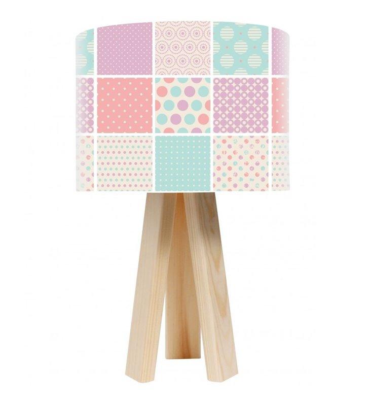 Pastelowa jasna lampa stołowa Landrynkowy Raj