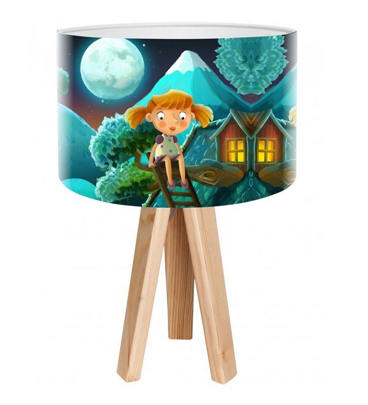 Bajka ze Snów kolorowa lampka stołowa nocna do pokoju dziecięcego