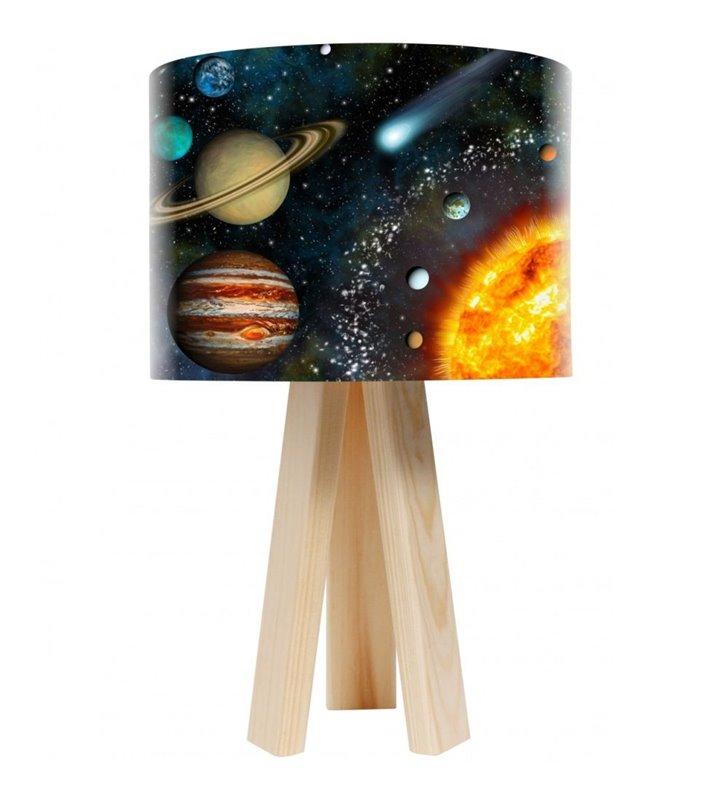 Lampa stołowa na 3 nogach Układ Słoneczny