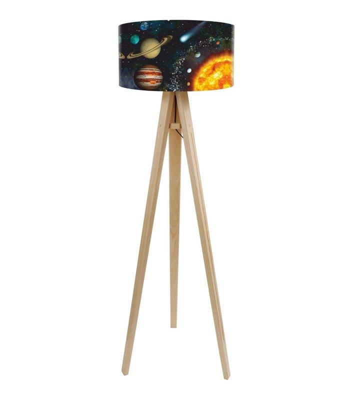 Lampa podłogowa Układ Słoneczny do pokoju dziecka
