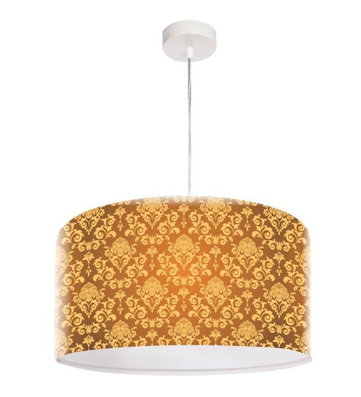 Lampa wisząca z eleganckim dekorem w kolorze złotym Złocisty Deseń
