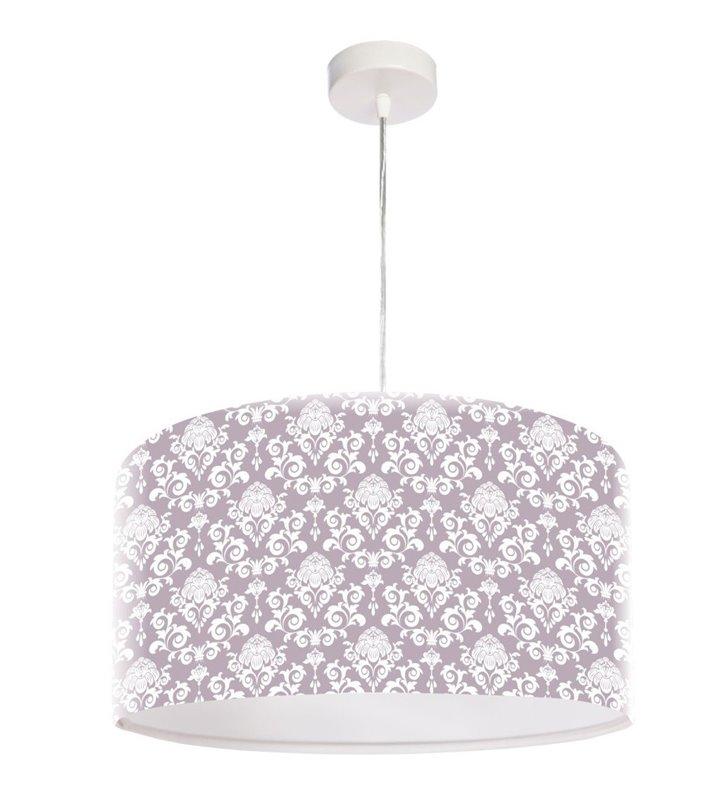 Magiczny Deseń jasna lampa wisząca z tworzywa do jadalni kuchni salonu sypialni