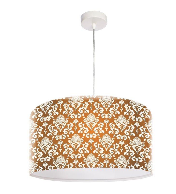 Lampa wisząca Wytworny Deseń abażur 50cm z tworzywa z eleganckim wzorem do jadalni kuchni salonu sypialni