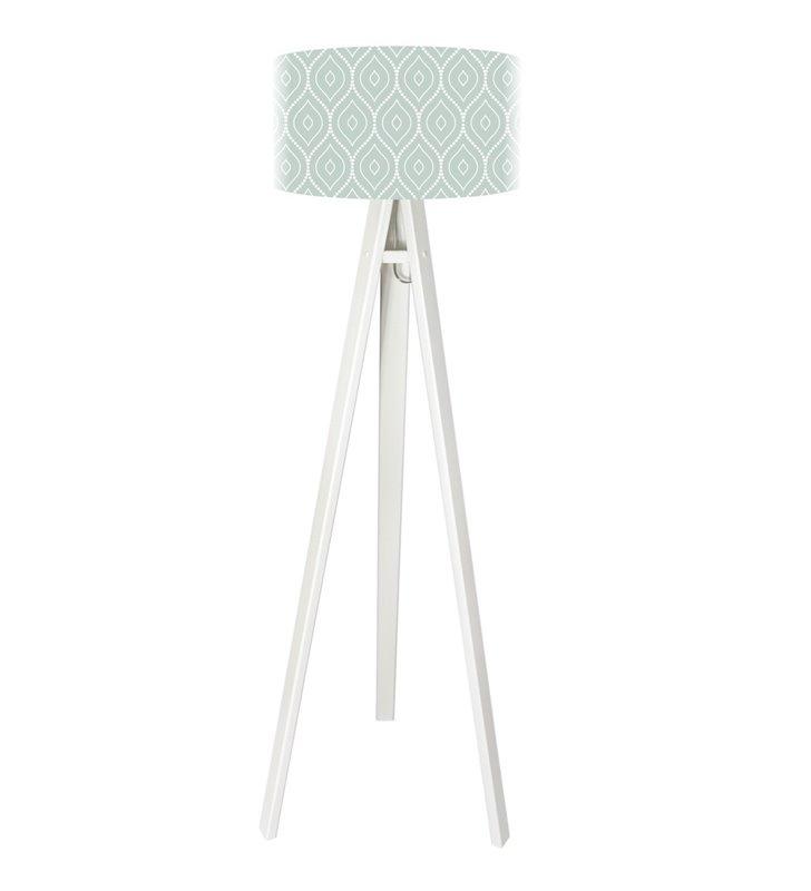 Lampa podłogowa Diana jasny abażur białe nogi