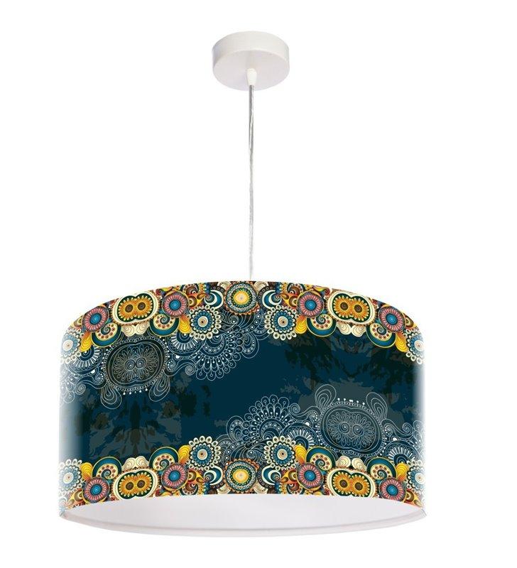 Kolorowa lampa wisząca Mandala Radości do salonu sypialni jadalni kuchni łatwa do czyszczenia