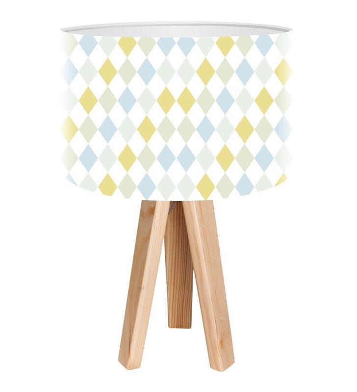 Dziecięca lampka stołowa Pastelowe Romby