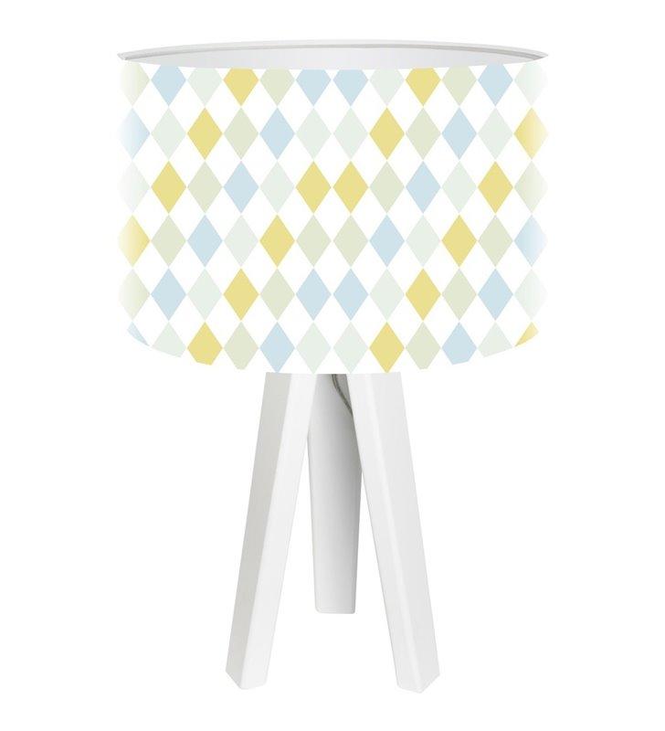 Dziecięca lampka stołowa w jasnych kolorach Pastelowe Romby