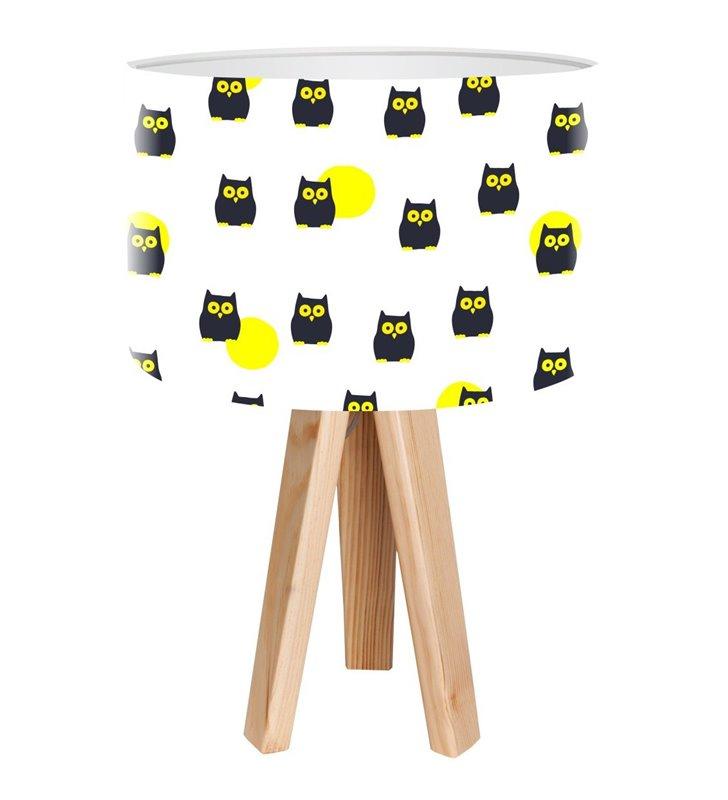 Hipnotyczne Sówki lampka stołowa dla dziecka z sowami - OD RĘKI