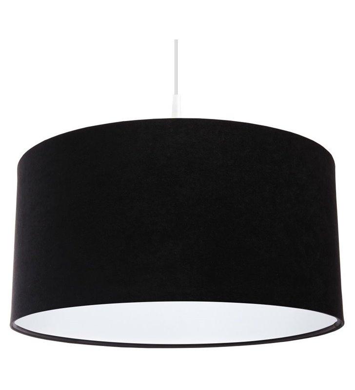 Welurowa czarna lampa wisząca Gloria Biała do salonu jadalni sypialni