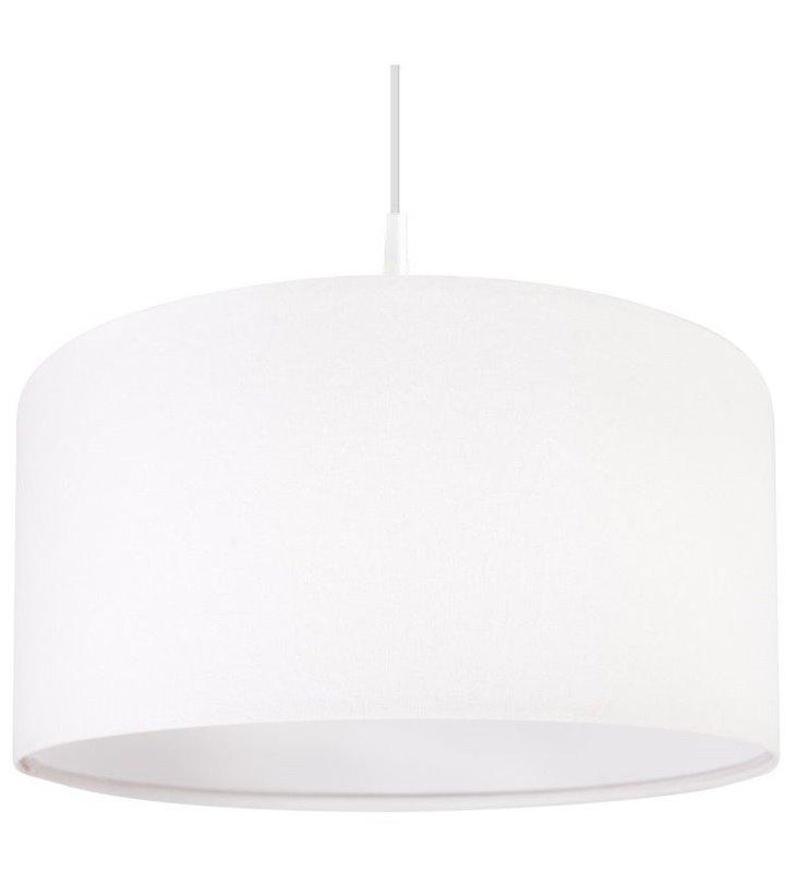 Lampa wisząca Lilia Biała abażur z weluru