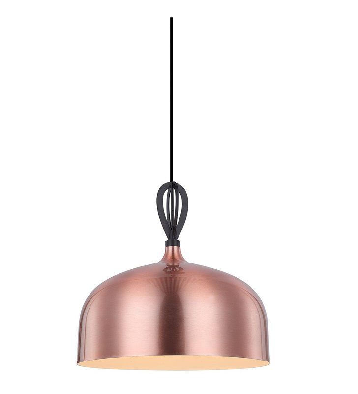 Miedziana metalowa lampa wisząca Emerald do salonu sypialni jadalni kuchni