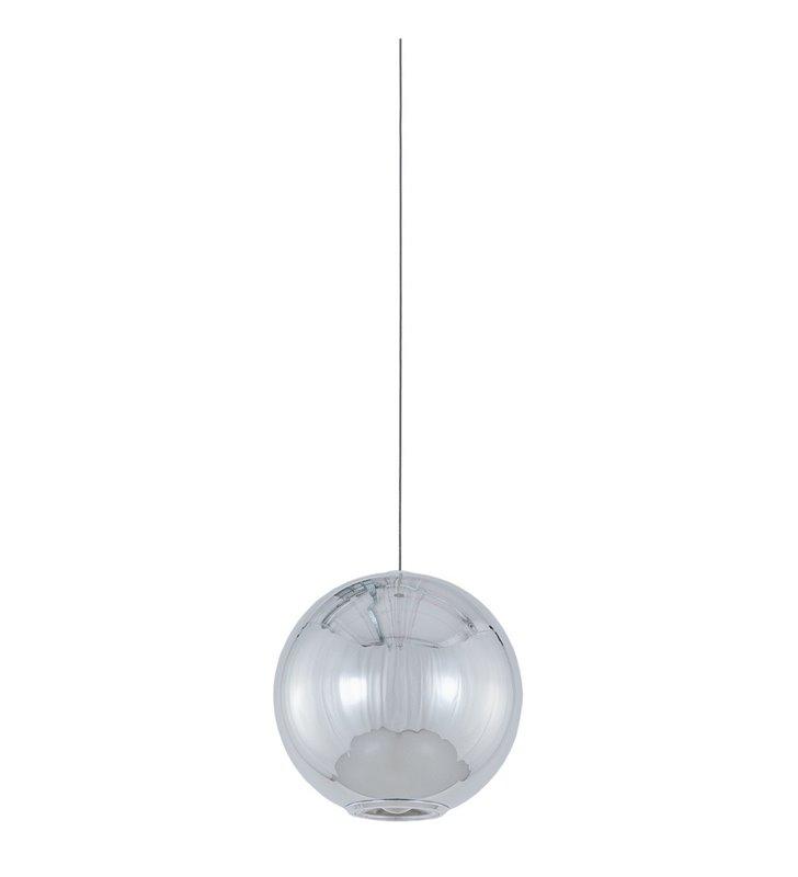 Chromowana lampa wisząca Neutron LED średnica 10cm