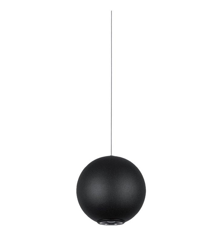 Neutron LED 10 cm czarna kula lampa wisząca do salonu sypialni jadalni kuchni nad stół wyspę kuchenna