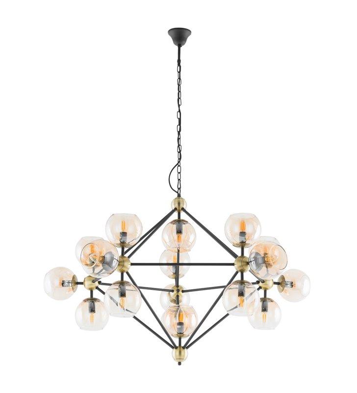 Rebekka duży designerski żyrandol lampa wisząca wielopunktowa ze szklanymi kloszami