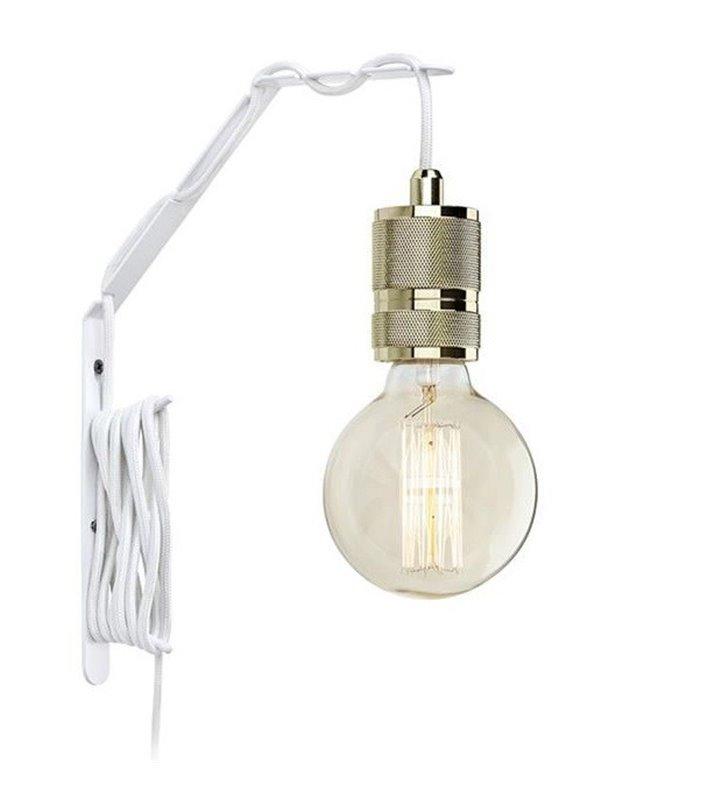 Metalowy biały wspornik do lampy ściennej Wall