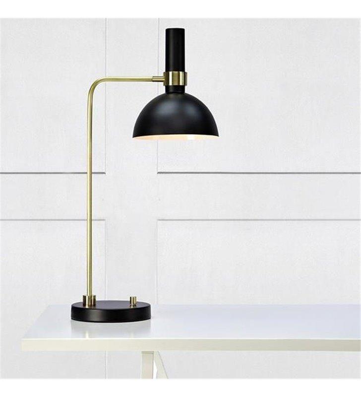 Czarno złota lampa stołowa Larry ściemniacz