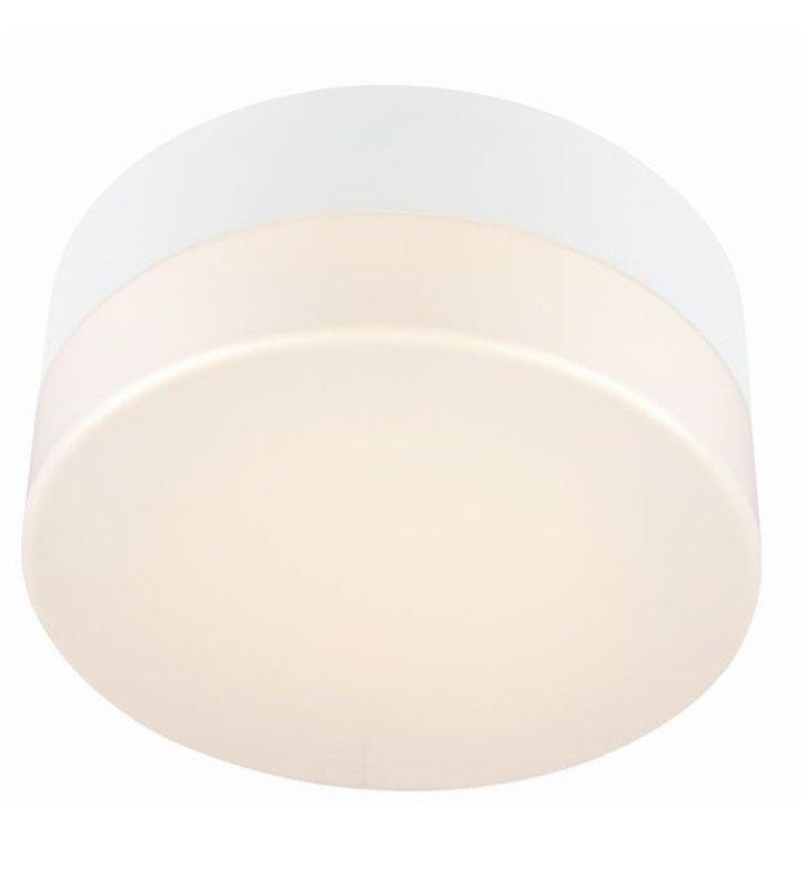 Mały biały plafon do łazienki Deman 220 LEDowy