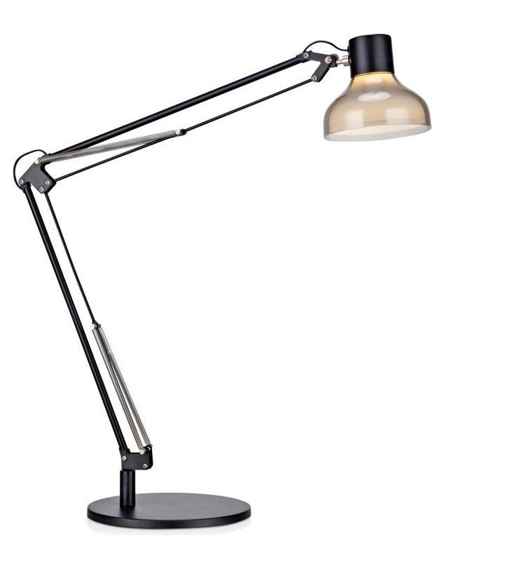 Wysoka czarna lampka biurkowa Jock przełącznik na kablu LED 5W 330lm