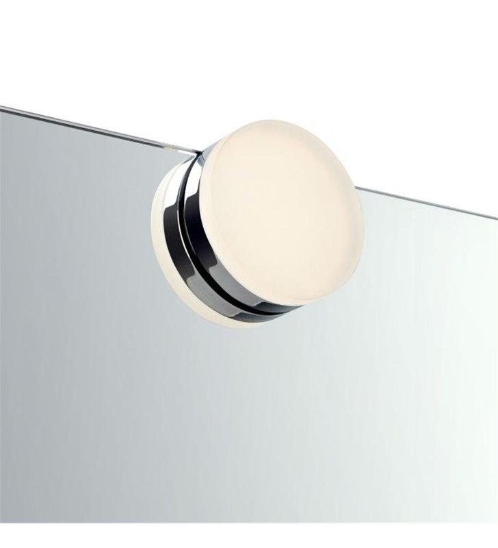Mały okrągły kinkiet łazienkowy Ajaccio LED chrom montaż na lustrze nowoczesny