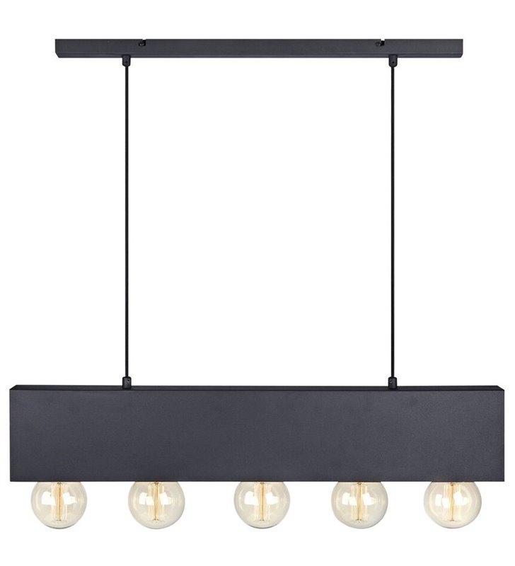 Lampa wisząca Couture czarna podłużna nowoczesna do dekoracyjnych żarówek